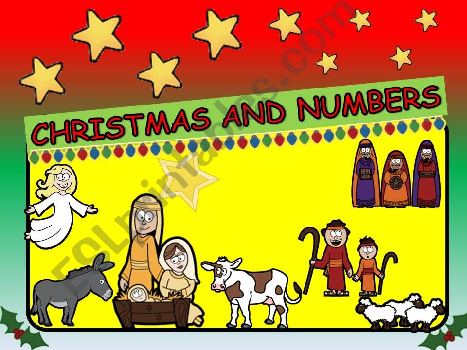 CHRISTMAS AND NUMBERS- 12 SLIDES