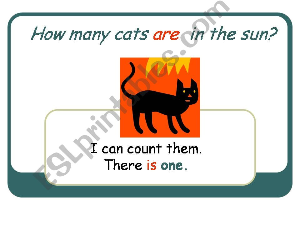 How many cats are in the sun? powerpoint