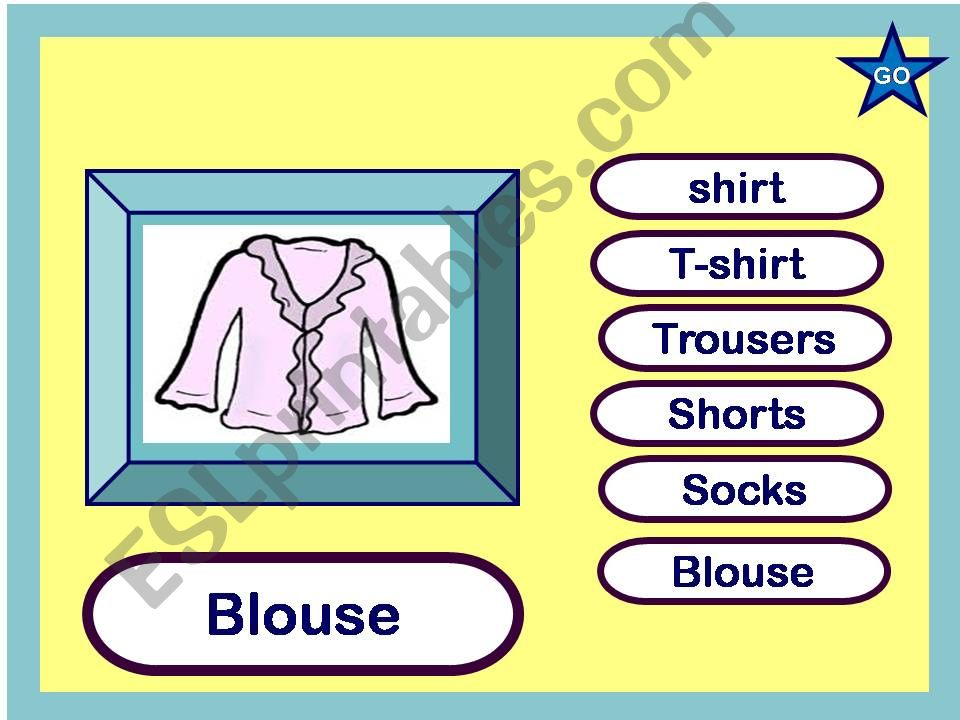 ClotheS- game powerpoint