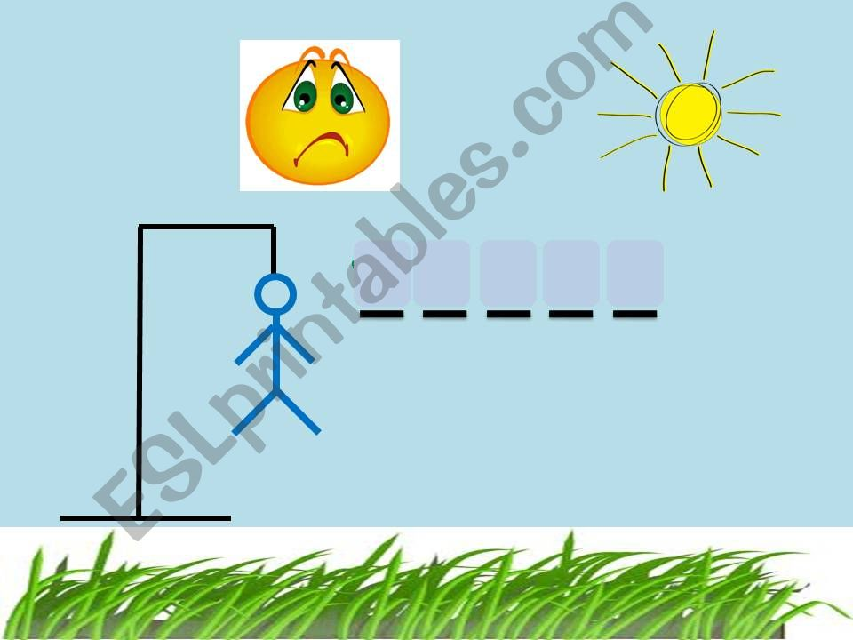 Hangman - wh- question words powerpoint