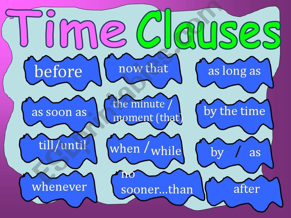 TIME CLAUSES powerpoint