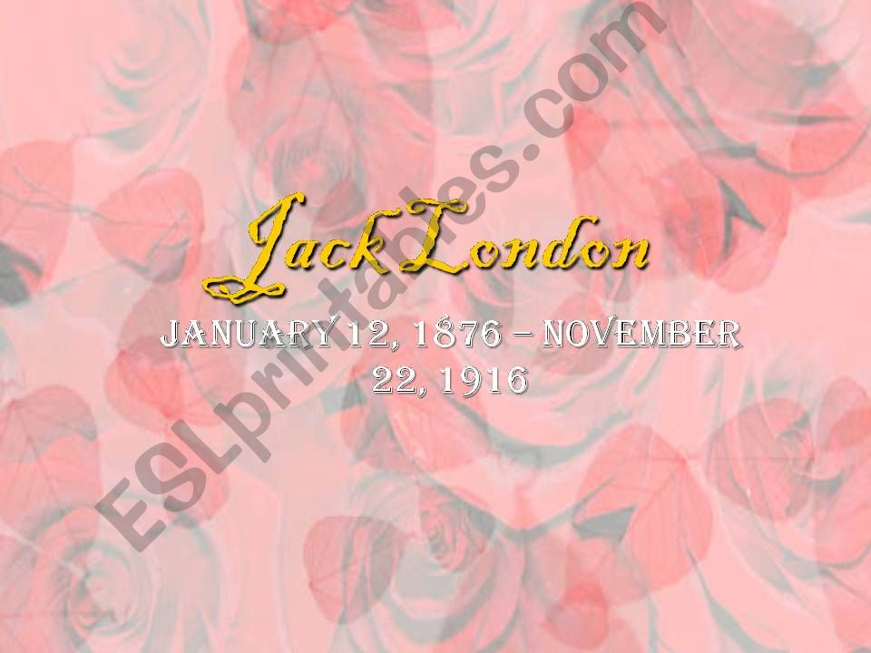 Jack London  powerpoint