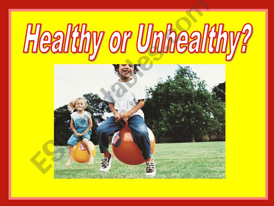 Healthy Unhealthy Game powerpoint