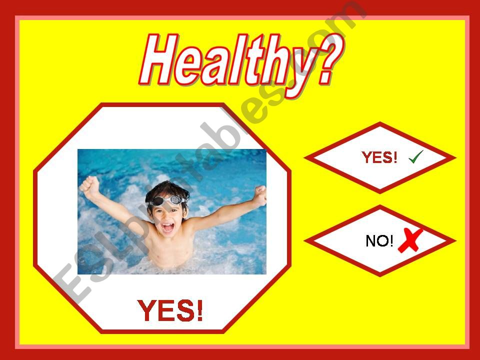 Healthy Unhealthy Game Part 2 powerpoint