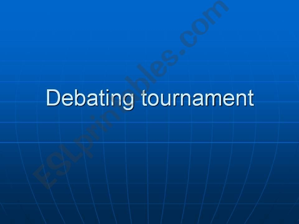 Statements for a debating tournament