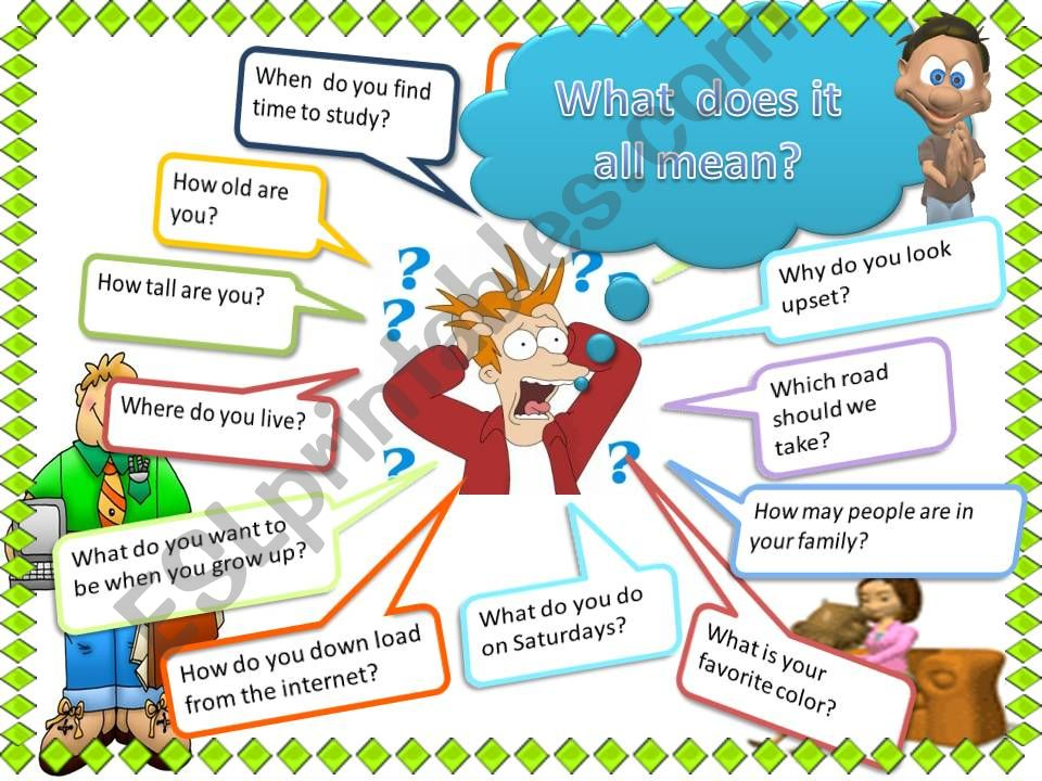 Question words powerpoint