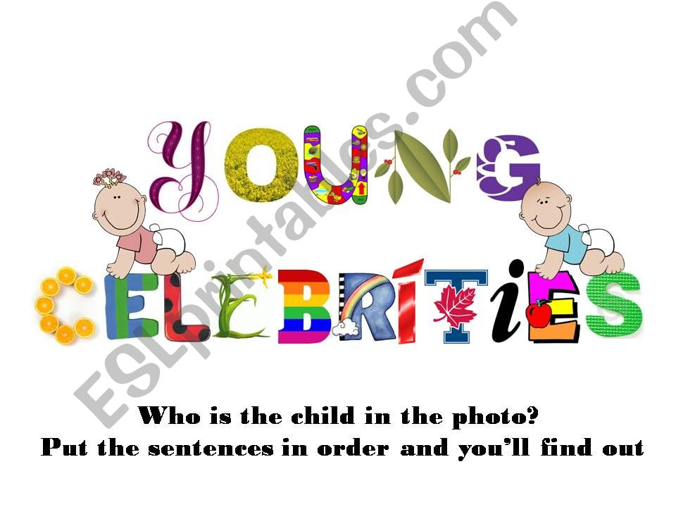 Young Celebrities powerpoint