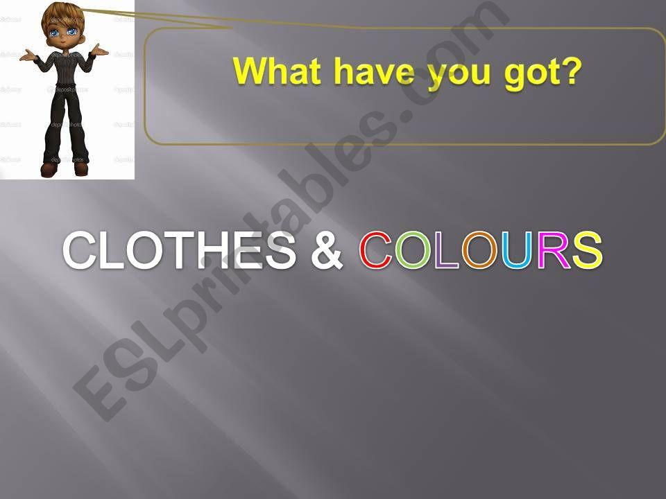 Clothes & colours powerpoint
