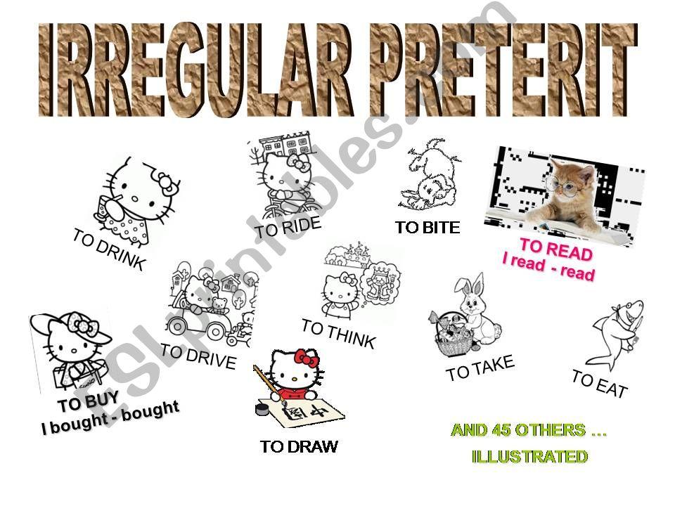 55 irregular preterit illustrated