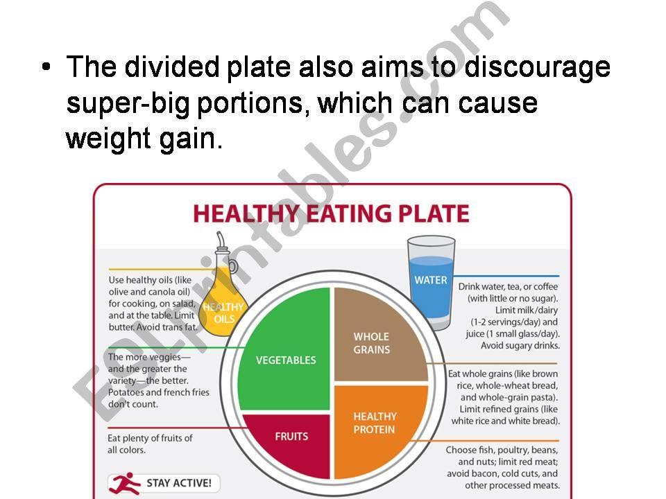 ESL - English PowerPoints: MY PLATE