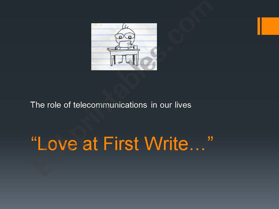 Love at First Write powerpoint