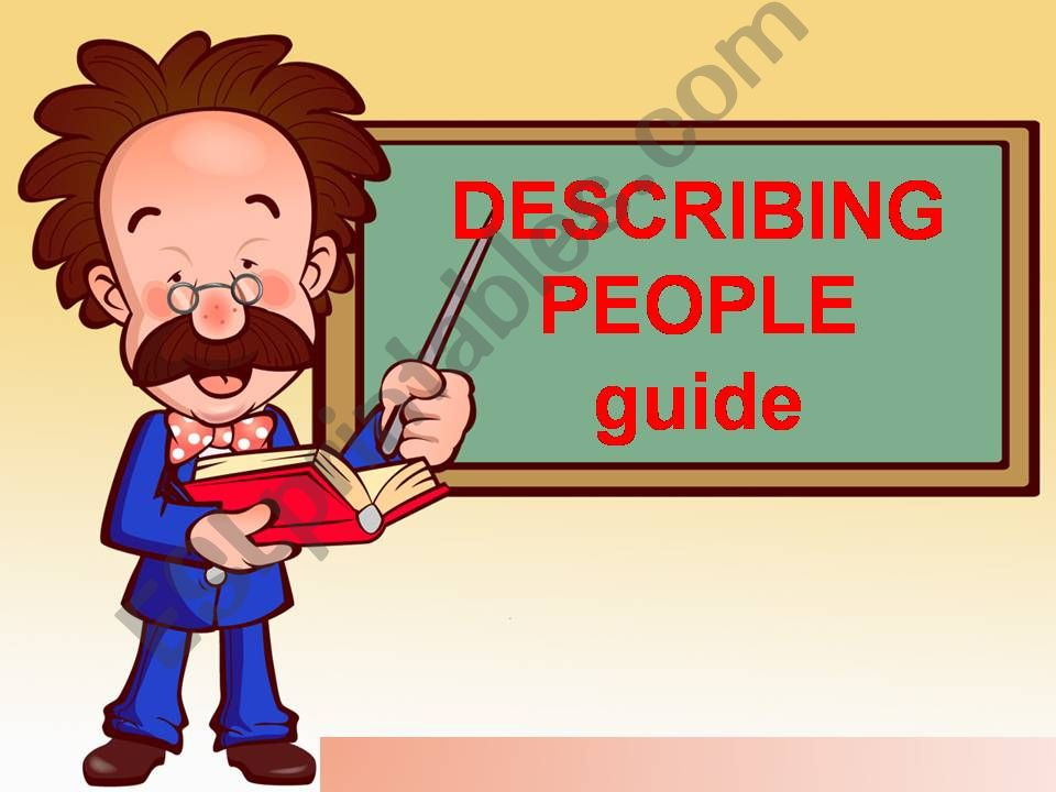 describing people guide powerpoint