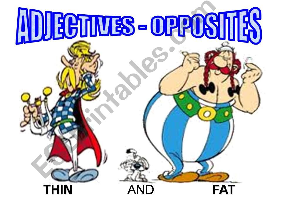 Adjectives - opposites powerpoint