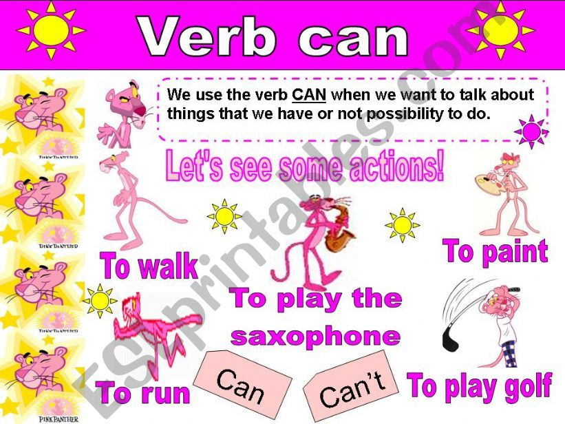 Verb Can With the Pink Panther