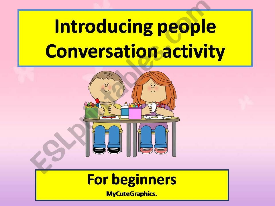 conversation activity about introducing people
