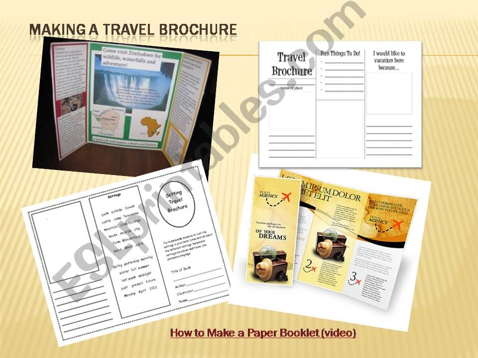 How to make a travel brochure powerpoint