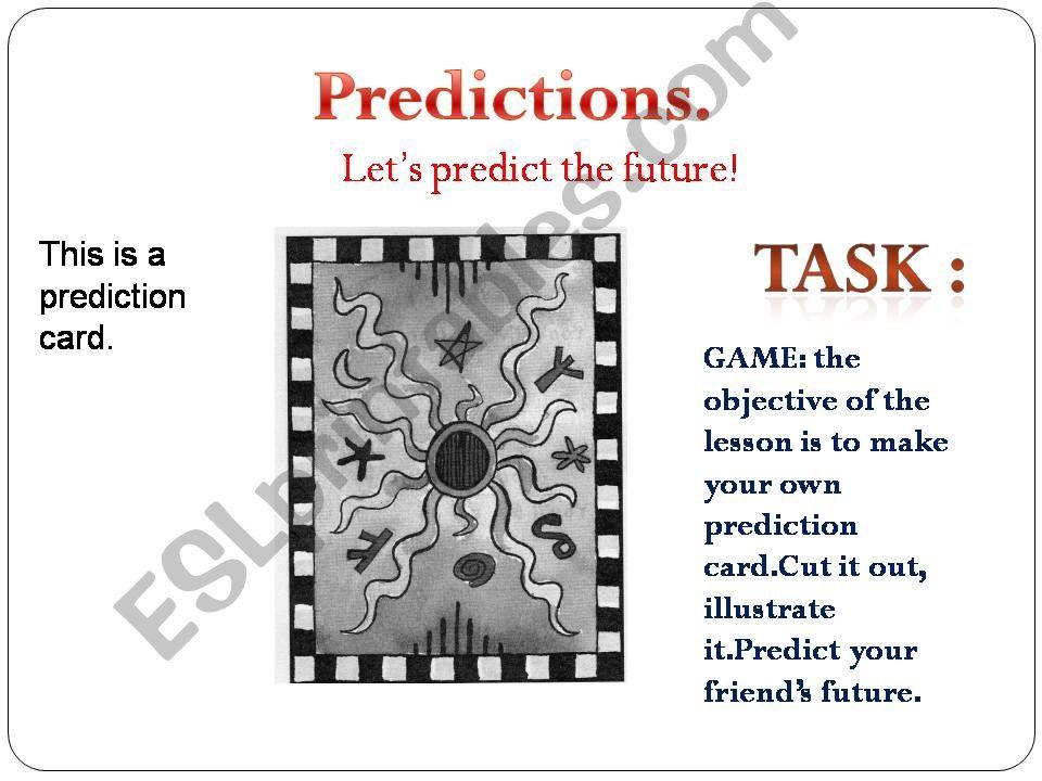 ESL - English PowerPoints: LET'S PREDICT THE FUTURE