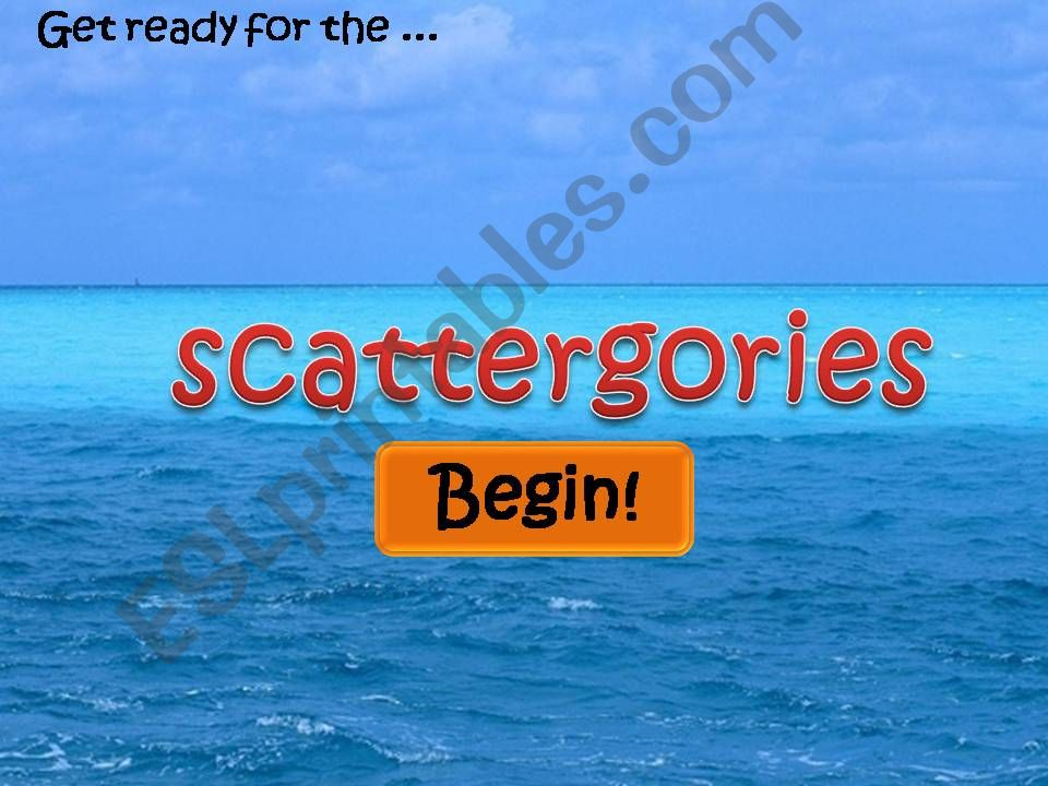 Scattergories - Timer Included!