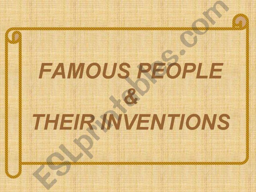 FAMOUS INVENTORS powerpoint