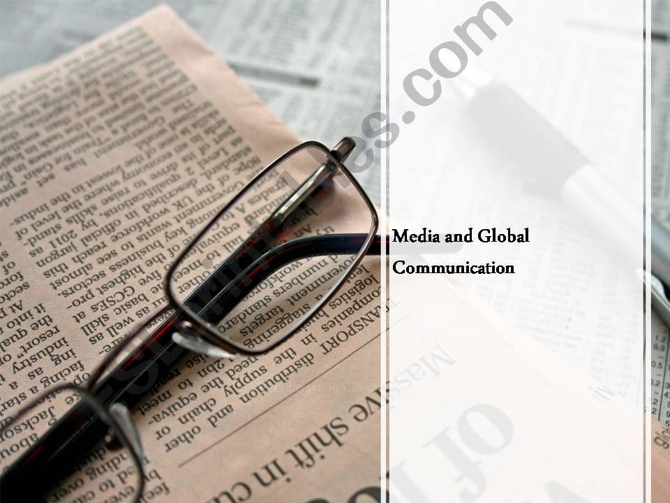 Mass Media and Global Communication