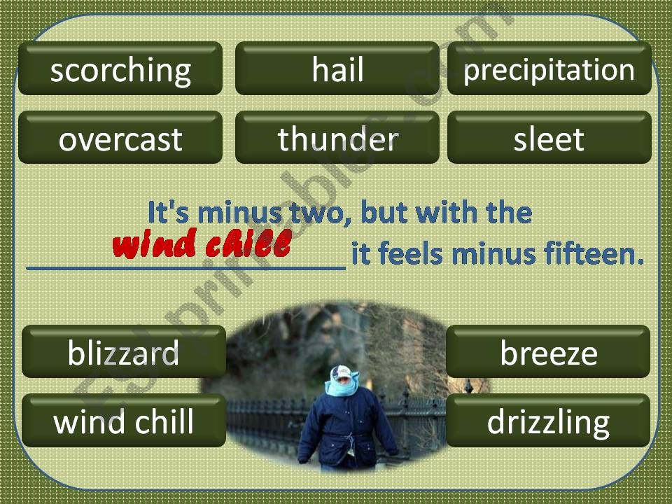 Weather Words 4/4 powerpoint