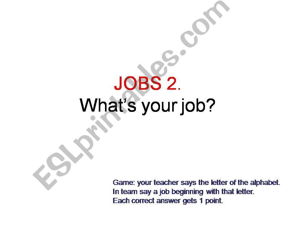 Jobs 2 powerpoint