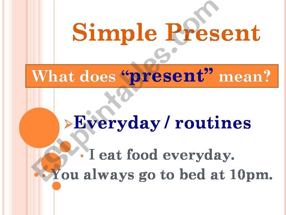 Present Simple powerpoint