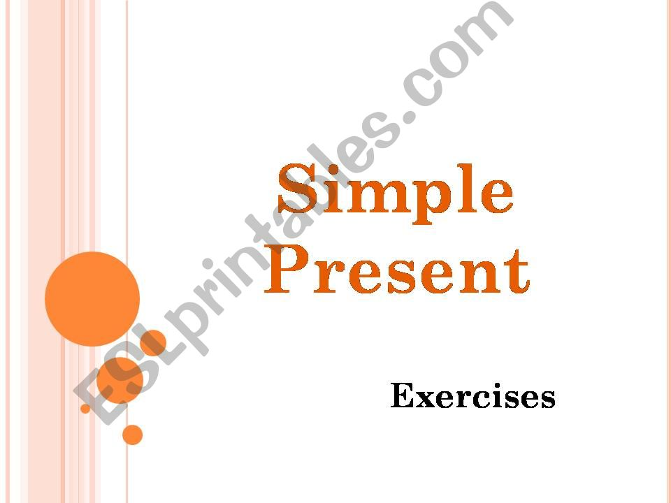 Present Simple2 - exercises powerpoint