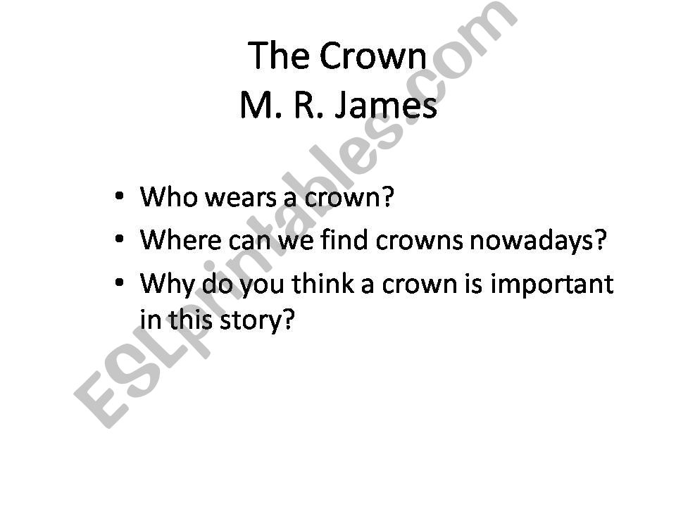 The Crown by M. R. James (Penguin Active Reading)