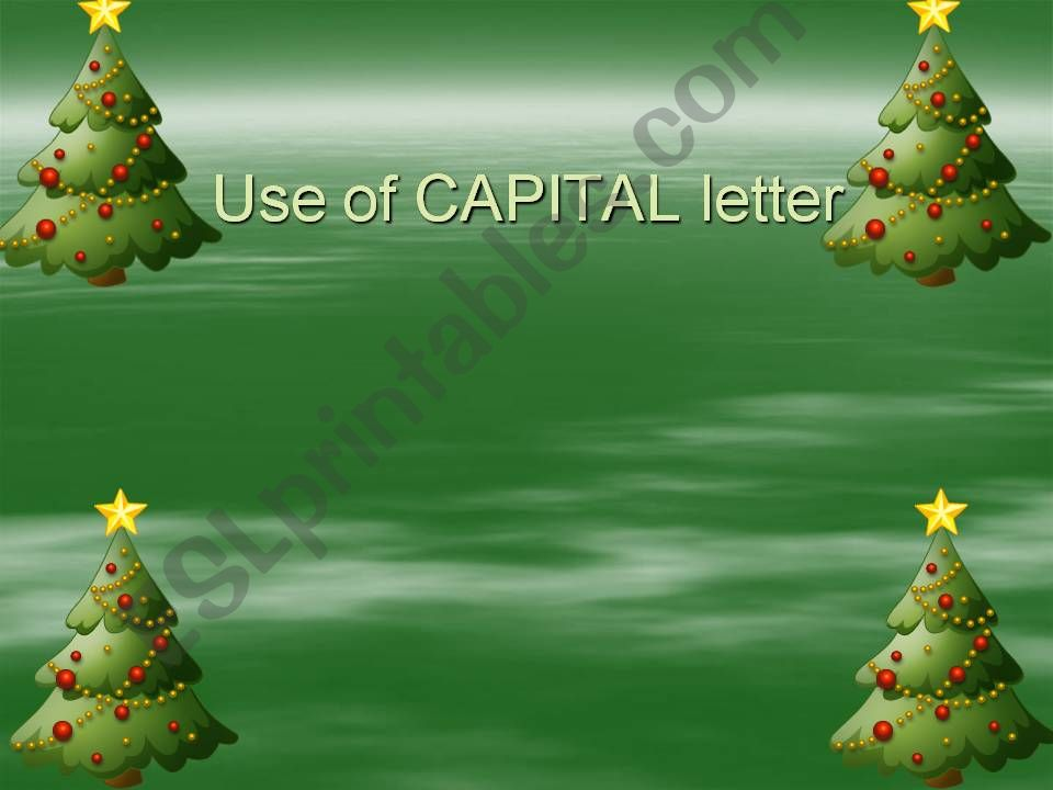 capital letters powerpoint