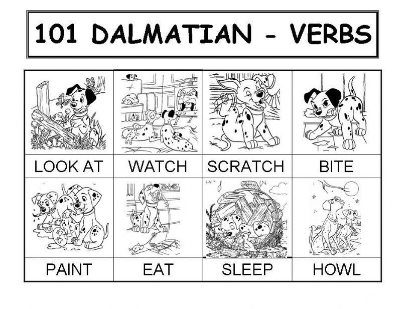 101 DALMATIAN - VERBS  powerpoint