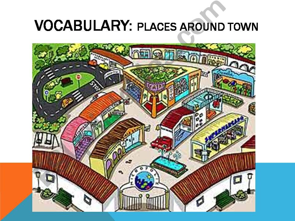 PLACES AROUND TOWN 2.1 powerpoint
