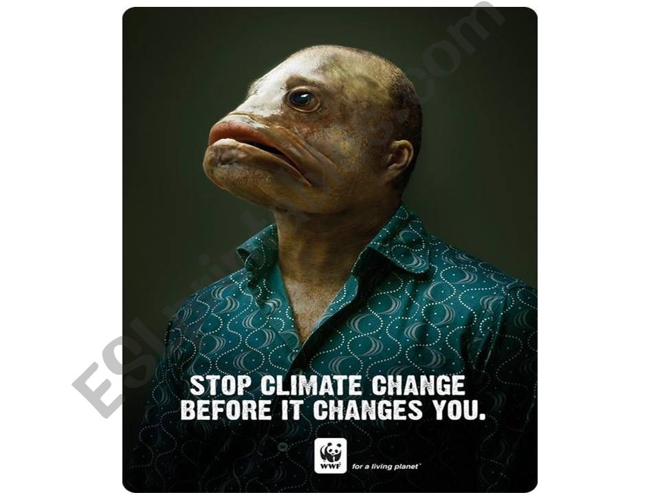 24 striking WWF and Greenpeace posters - Speaking activity