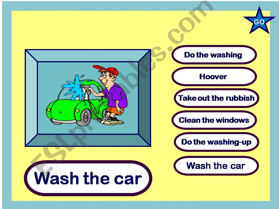 The Household Chores powerpoint