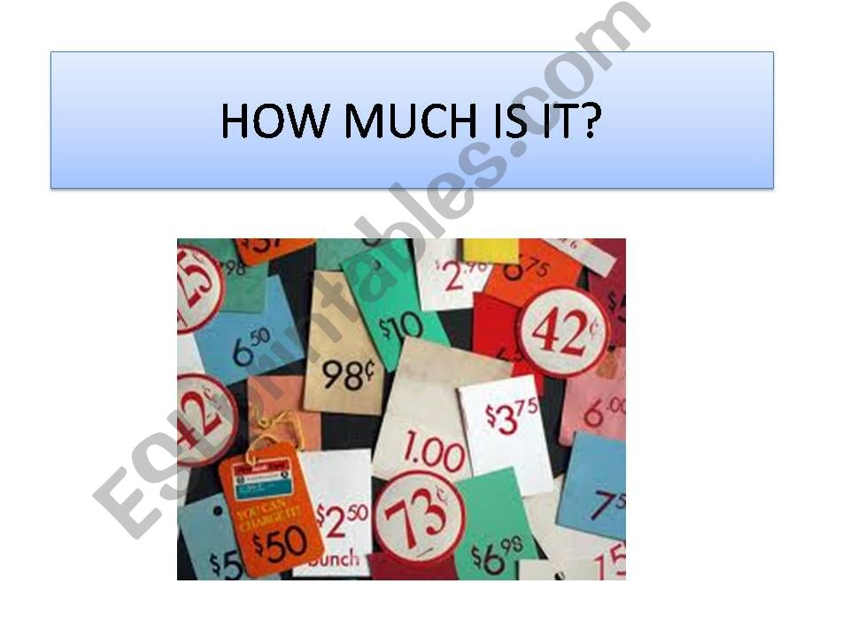How much is it? powerpoint