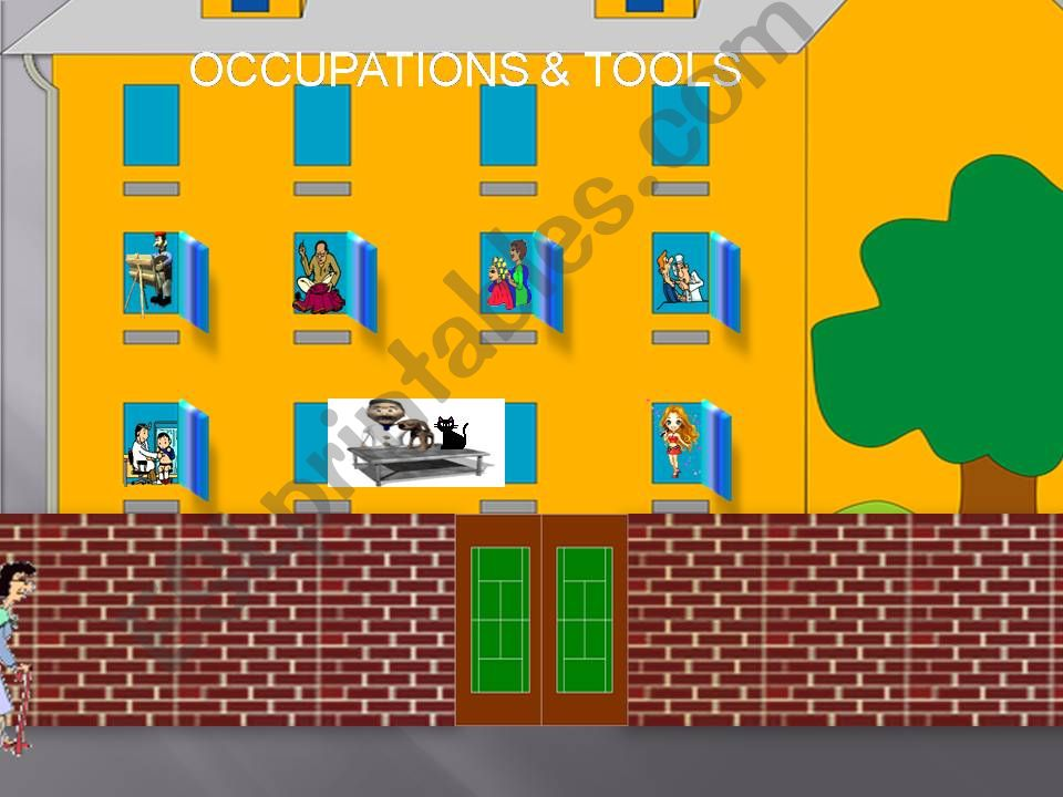 Occupations - Jobs & tools powerpoint