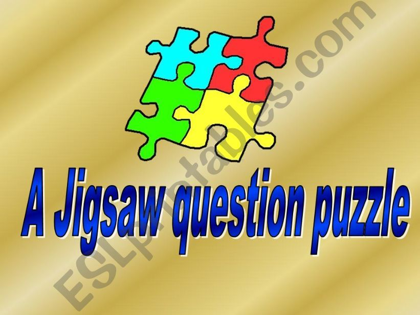 Question game made as a jigsaw - template