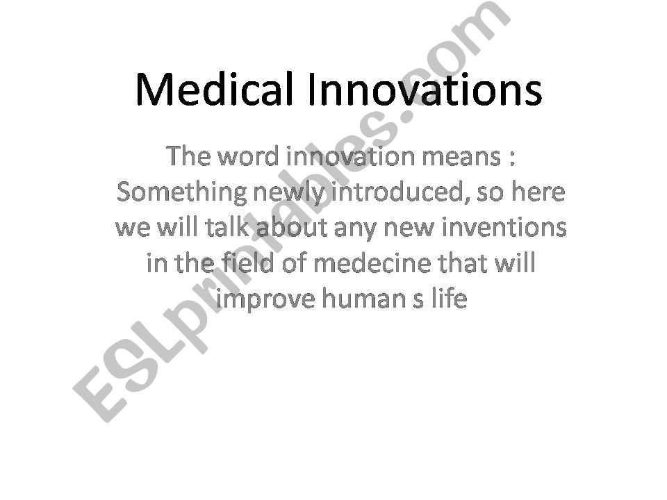 medical innovation powerpoint