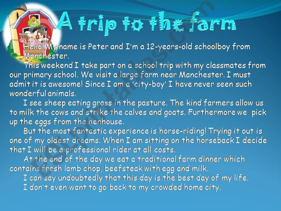 a trip to the farm powerpoint