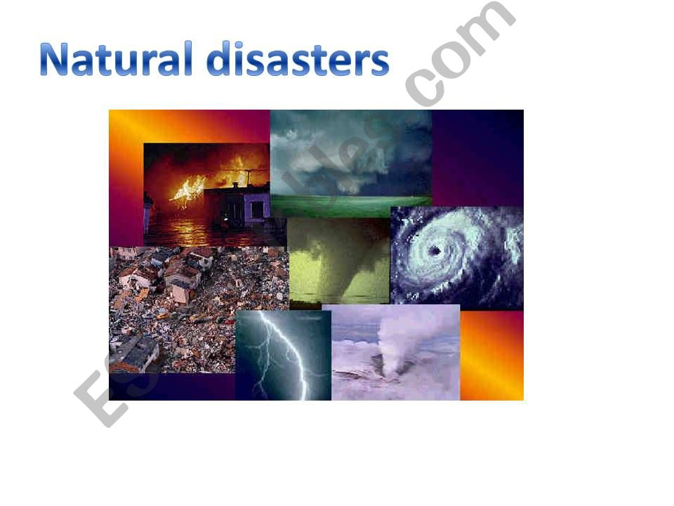 Natural disasters ppt powerpoint