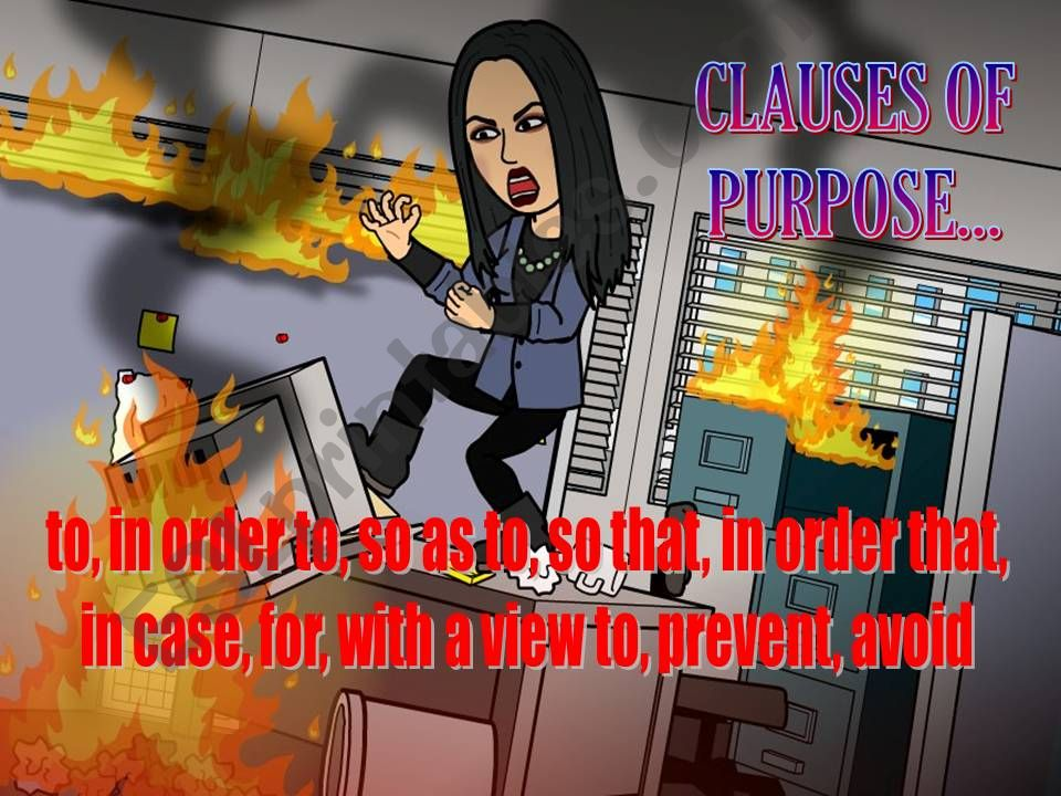 CLAUSES OF PURPOSE powerpoint