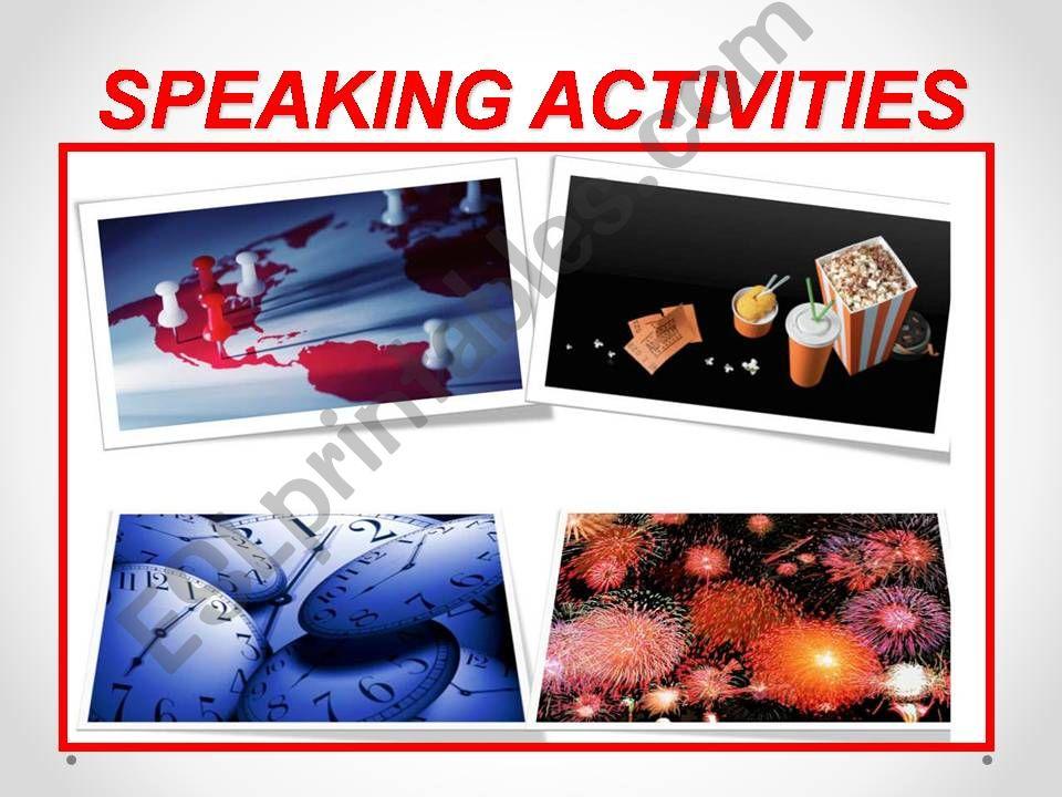 Speaking activities powerpoint