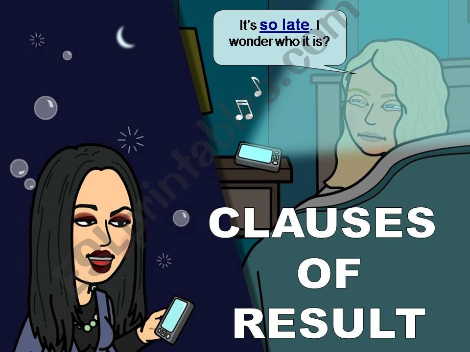 CLAUSES OF RESULT powerpoint