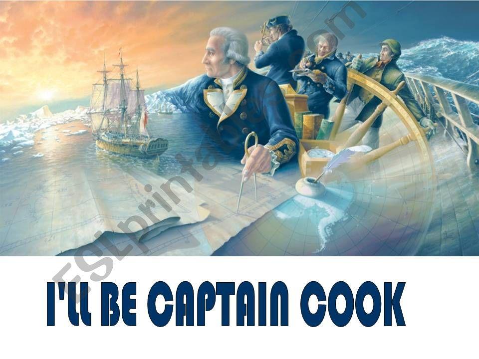 Future tenses - I´ll be Captain Cook