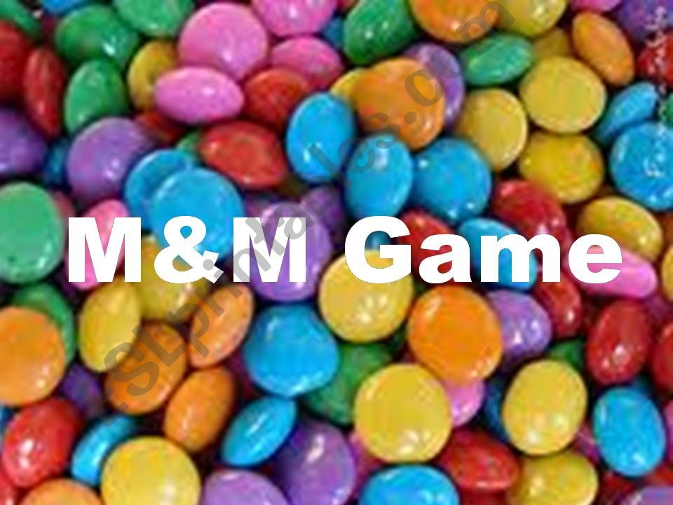 M&Ms Game powerpoint