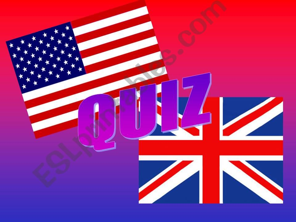 Quiz British x American - Vocabulary