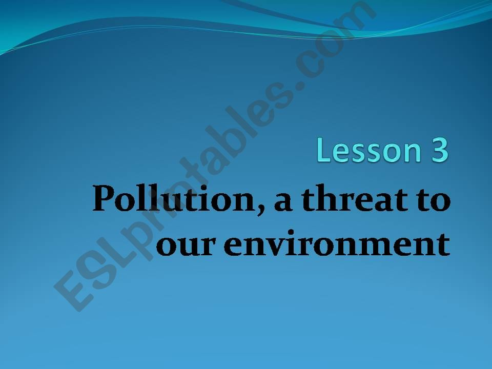 types of pollution powerpoint