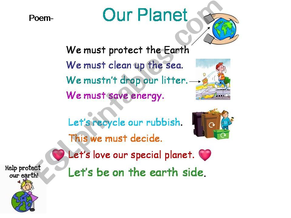 MUST- MUSTN´T : a poem about our planet & the environment