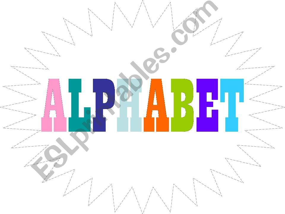 Alphabet Letters with Pics powerpoint