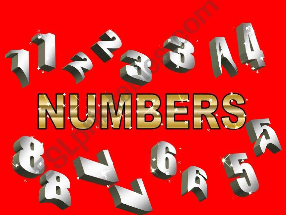 Number games powerpoint